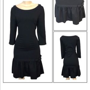KATE SPADE BLACK PEPLUM DRESS SIZE 8
